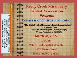 Reedy Creek Cong chr ed March 15