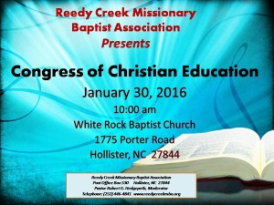 Reedy Creek christian ed  jan 2016